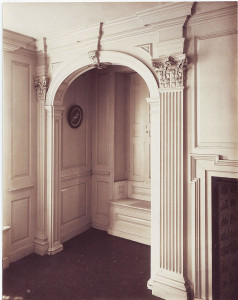 Marble Chamber, window seat and pilasters